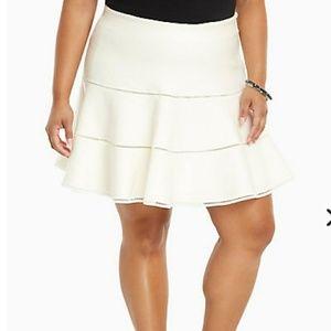Torrid white Knit Skater Skirt New